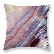 Striped Quartz Throw Pillow