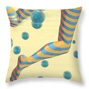 Striped Stockings Throw Pillow