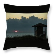 Striped Sunrise Delray Beach Florida Throw Pillow