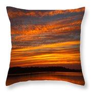 Striped Sunset Throw Pillow