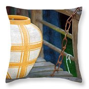 Striped Vase Throw Pillow