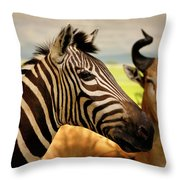 Stripes And Horns 2 Throw Pillow