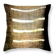 Stripes And Texture Throw Pillow