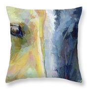 Stripes Throw Pillow by Kimberly Santini