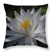 Stripped Waterlily Throw Pillow