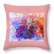 Strips Of Pretty Colors Abstract Throw Pillow
