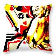 Striptease Throw Pillow