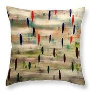 Stroke Of Color Throw Pillow