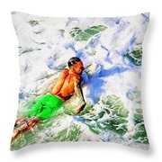 Stroke Through Throw Pillow