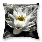 Strokes Of The Lily Throw Pillow