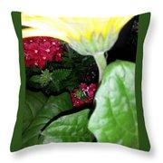 Strokes Of Yellow Throw Pillow