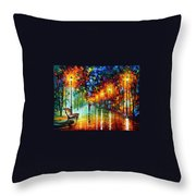 Stroll In The Fog Throw Pillow