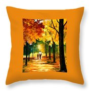 Stroll In The Forest Throw Pillow