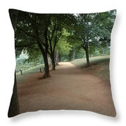 Stroll On Mulberry Row Monticello Throw Pillow