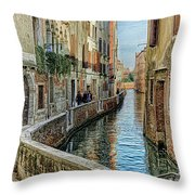 Stroll The Canal Throw Pillow