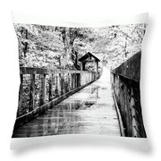 Stroll Through The Woods Throw Pillow by Valeria Donaldson