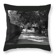 Stroll To Store Throw Pillow