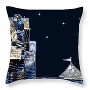 Strolling Along The Seine At 3 Am Throw Pillow