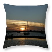 Strolling In The Sunset Throw Pillow