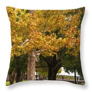Strolling In Waterfront Park Throw Pillow