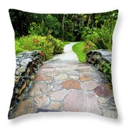 Strolling Through Paradise Throw Pillow