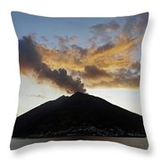 Stromboli - Lighthouse Of The Mediterranean Throw Pillow