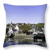 Stromness Harbor Throw Pillow