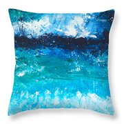 Strong Current Throw Pillow