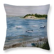 Strong Island Throw Pillow