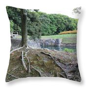 Strong Roots In Japan Throw Pillow