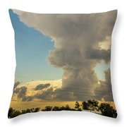Strong Storms In South Central Nebraska 001 Throw Pillow