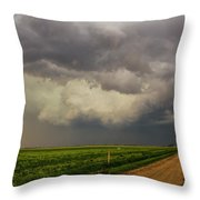 Strong Storms In South Central Nebraska 003 Throw Pillow