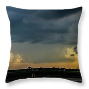 Strong Storms In South Central Nebraska 004 Throw Pillow