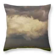 Strong Storms In South Central Nebraska 006 Throw Pillow