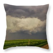 Strong Storms In South Central Nebraska 008 Throw Pillow