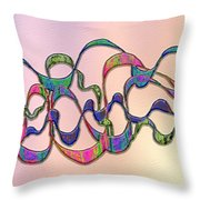 Strong Wind At Sunset Throw Pillow