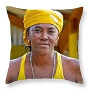 Strong Woman Throw Pillow