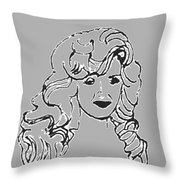 Strong Woman In Black White Throw Pillow