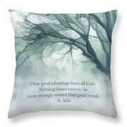 Strongly Rooted Throw Pillow