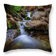 Strongs Canyon Cascades Throw Pillow