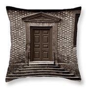 Structural Symetry - Sepia Throw Pillow