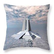 Structural Tower Of Atlantis Throw Pillow