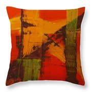 Structure In Orange Throw Pillow