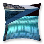 Structures East 3 Throw Pillow