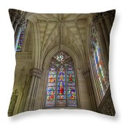 Structures Of St. Patrick Cathedral 3 Throw Pillow