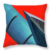 Structures Tilted 2 Throw Pillow