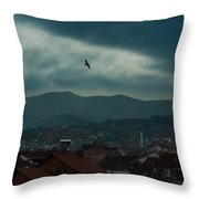Strumica Blue Throw Pillow