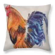 Strutting Rooster Throw Pillow