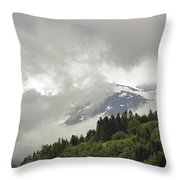 Stryn Lake And Jostedalsbreen National Park Throw Pillow