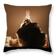 Sts-128 Night Launch Throw Pillow